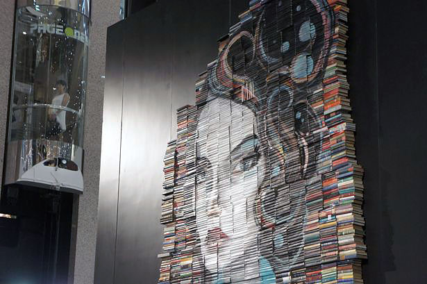 Mike Stilkey Exhibition Opens at Times Square, Hong Kong