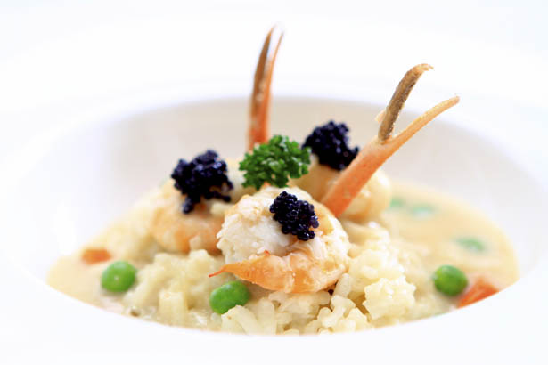 Easy Recipe: Creamy Prawn Risotto with Caviar and Peas