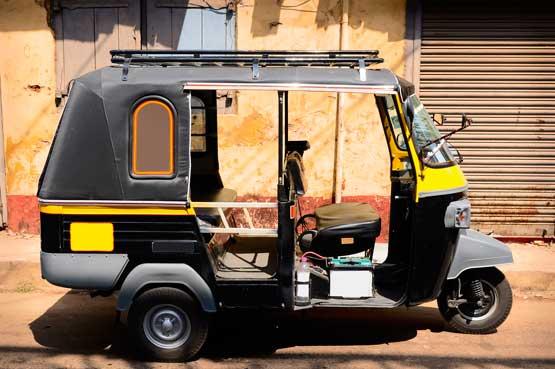 Mumbai, Tuktuk--Rickshaw