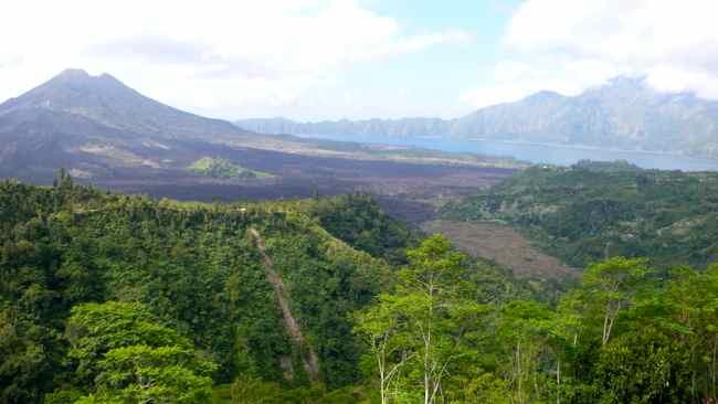 Top 5 places to visit in Bali: Mount Batur (Gunung Batur) Volcano
